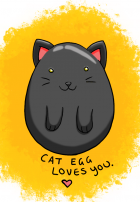 Cat Egg Loves You