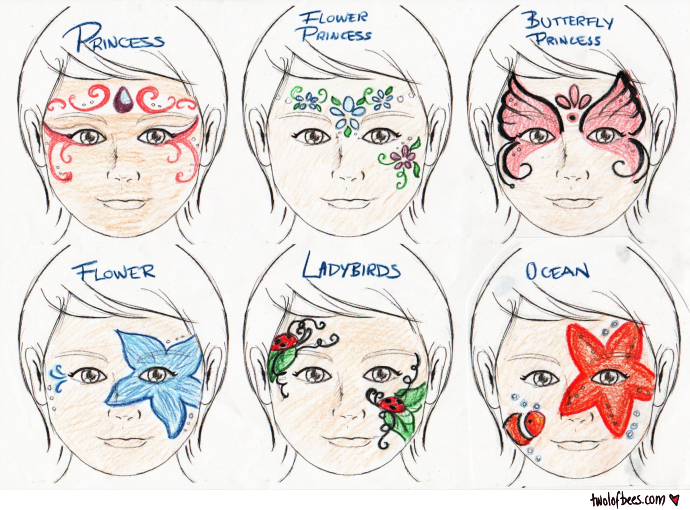 Face-Painting Designs (2 of 3) - two lof bees