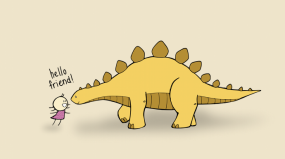 Hello Dinosaur Friend (coloured)