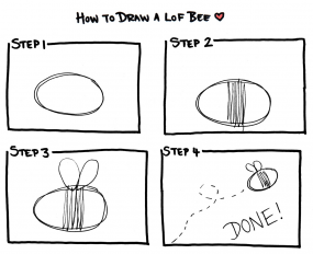 How to Draw a Lof Bee