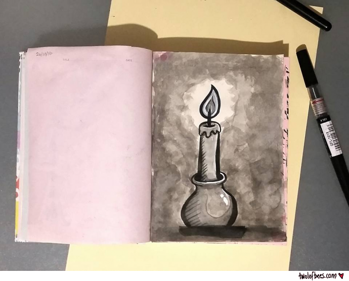 Inktober - Candle