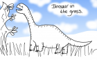 Dinosaur in the Grass 1