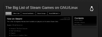 The Big List of Steam games on Linux